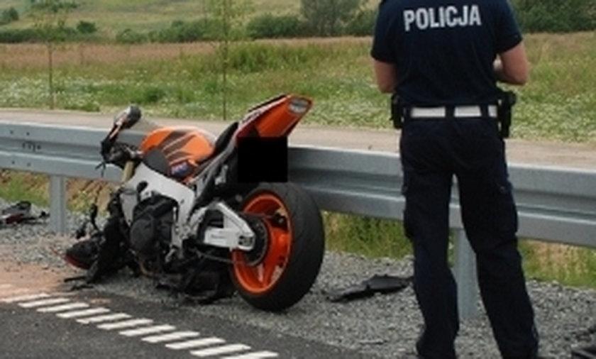 wypadek motocyklistów