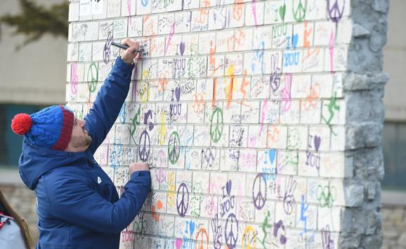 Za pamćenje: Damir Štajner je napisao poruku na srpskom jeziku