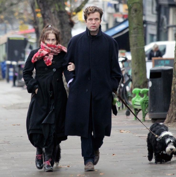 Helena Bonam Karter sa dečkom