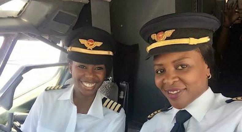 Zimbabwe witness its first all female flight deck crew flying Air Zimbabwe's Boeing 737