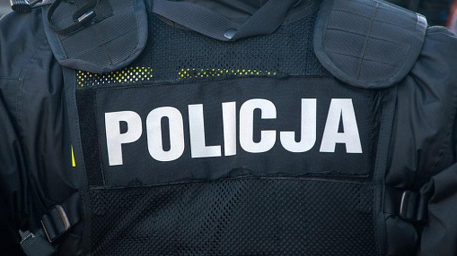 Policjant był na służbie
