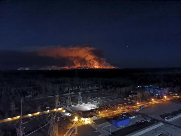 Černobilj požar