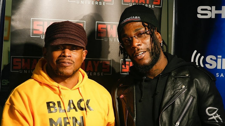 Burna Boy appears on 'Sway in the Morning' hosted by veteran rapper, and on-air personality Sway Calloway on SiriusXM Shade 45. (YouTube/Sway's Universe)
