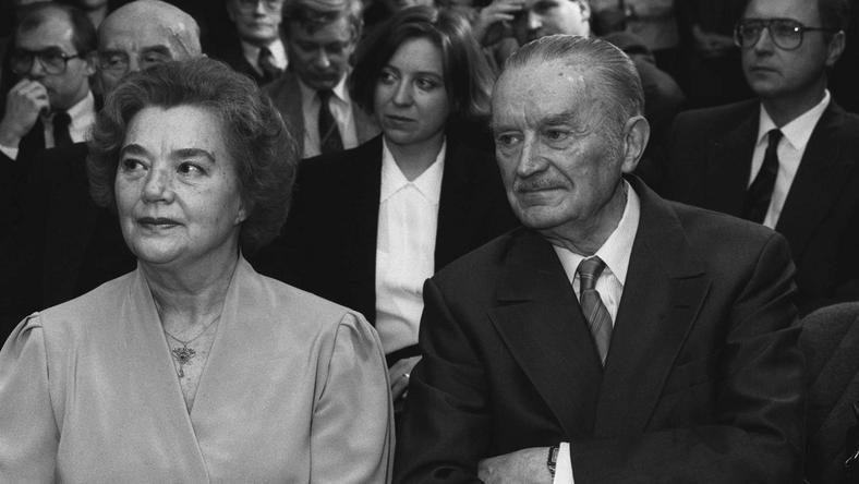 Piotr Jaroszewicz z żoną Alicją Solską