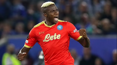 Leicester City 2 Vs 2 Napoli: Victor Osimhen scores impressive brace as Wilfred Ndidi sees red