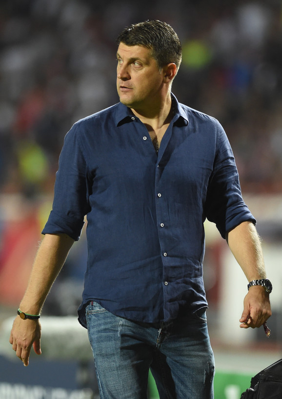 Vladan Milojević, trener crveno-belih, na meču FK Crvena zvezda - Jang Bojs