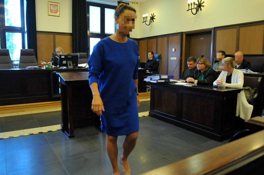 Agata A. w sądzie na rozprawie Kamila Durczoka