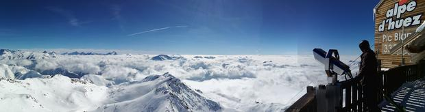 Widok z Pic Blanc (3330 m.n.p.m.)