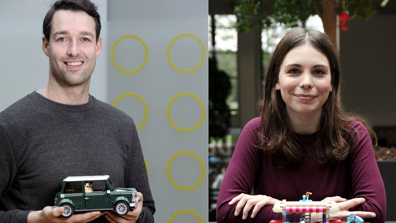 Andrew Seenan i Ola Mirecka, projektanci klocków LEGO