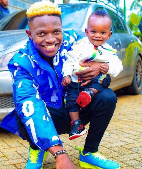 Mr seed and wife Nimo Gachuiri reveal son's face for the first time [Photo]