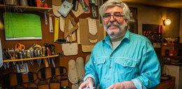 Sandały ze skóry i sznurka. Pan Robert to pionier tworzenia butów przy użyciu makramy