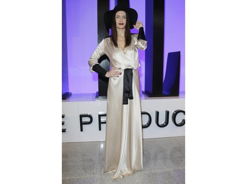 Joanna Horodyńska na pokazie kolekcji jesień/zima 2011 marki Simple Creative Products.
