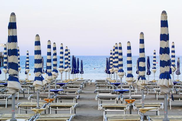 Plaża w miejscowości Laigueglia