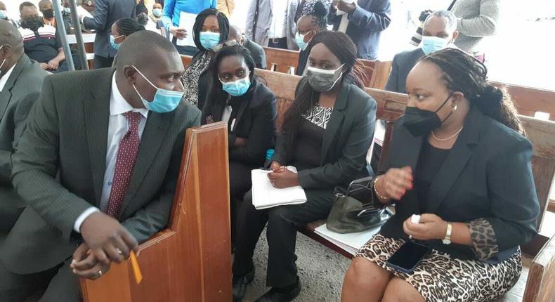 Kirinyaga Governor Anne Waiguru at the Milimani law courts on May 19, 2021