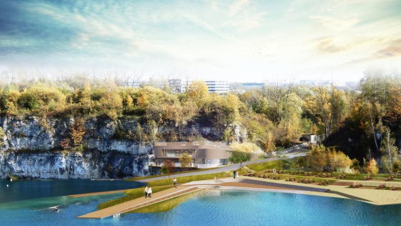 Park Zakrzówek - wizualizacja