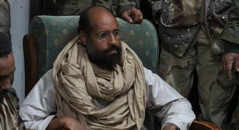 Saif al-Islam Gaddafi (pictured in 2011)
