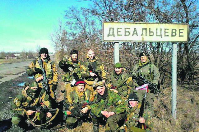 Pripadnici Srpskog husarskog puka u Ukrajini