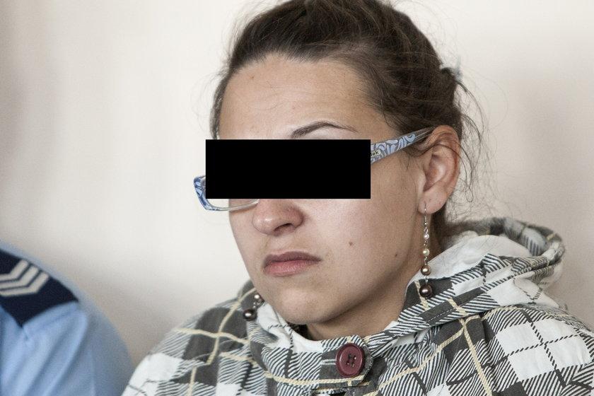 Ewelina C. podczas rozprawy