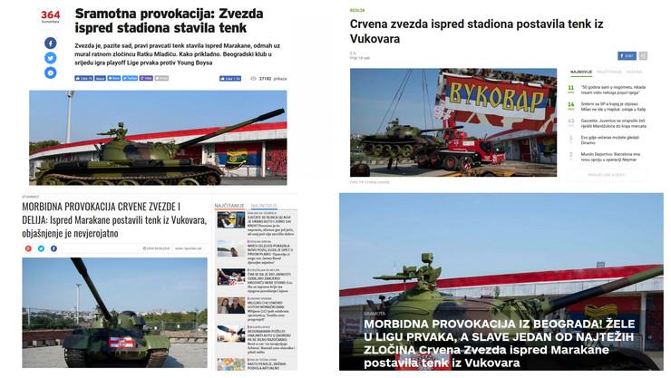 Hrvati o tenku ispred Marakane