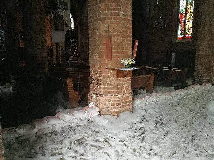 Pożar katedry w Gorzowie Wielkopolskim.