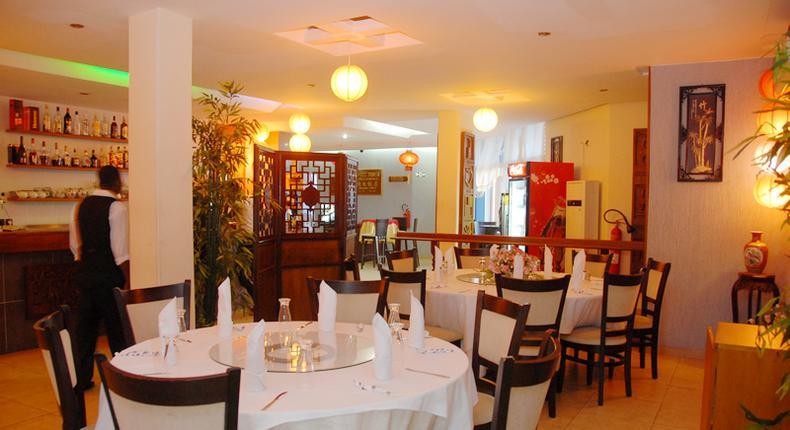 A restaurant in Ghana