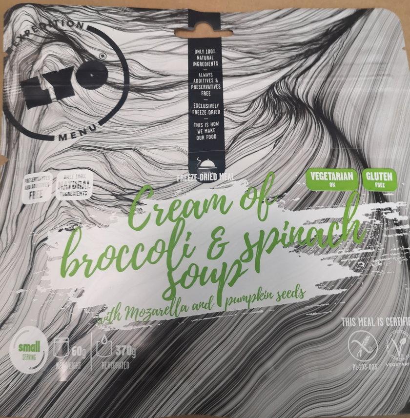 Krem brokułowo- szpinakowy