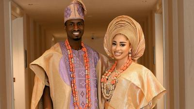 Nigerian footballer Peter Olayinka and actress Yetunde Barnabas who played Miss Pepeiye in Papa Ajasco are getting married after dating for 2 years