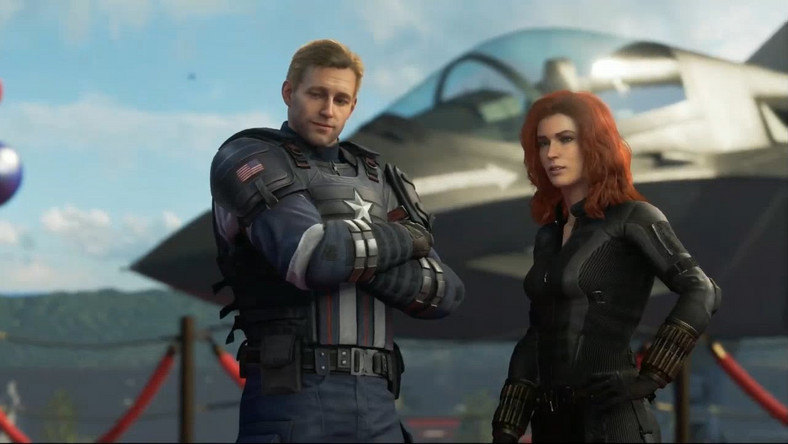 Marvel Avengers Cap and Widow