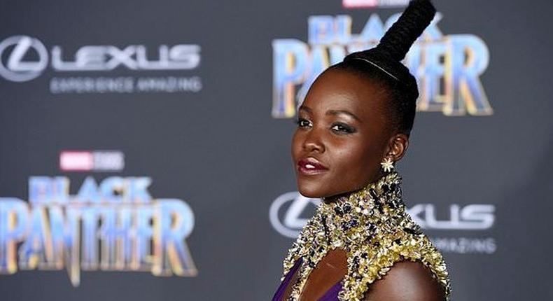 Lupita Nyong'o at the Black Panther premiere