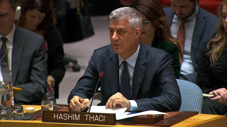 Hašim Taci i Vljora CItaku u UN