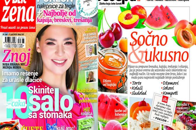 """U novoj """"Blic ženi"""" najbolji VOĆNI KUVAR: Poklanjamo i nalepnice za tegle"""