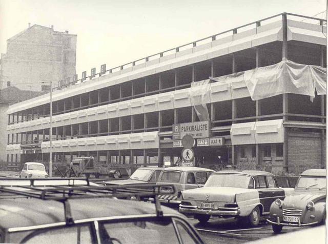 Garaza Obilicev venac posle nadogradnje 1978. godine