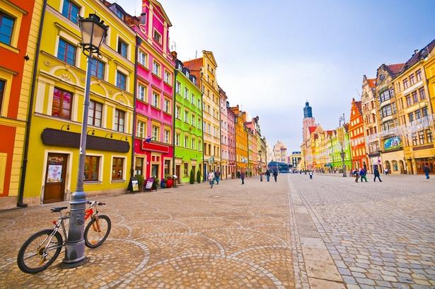 Województwo Dolnośląskie: Wrocław Na zdjęciu widok na rynek