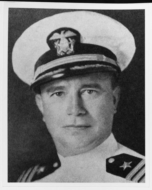 Cmdr. Cassin Young, who saved his ship from the attack.