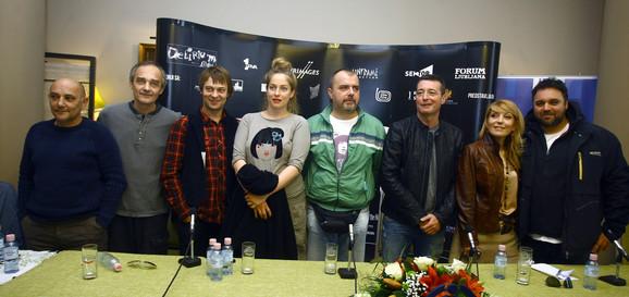 """Ekipa filma """"Parada"""", čija je premijera u ponedeljak u beogradskom Sava centru"""