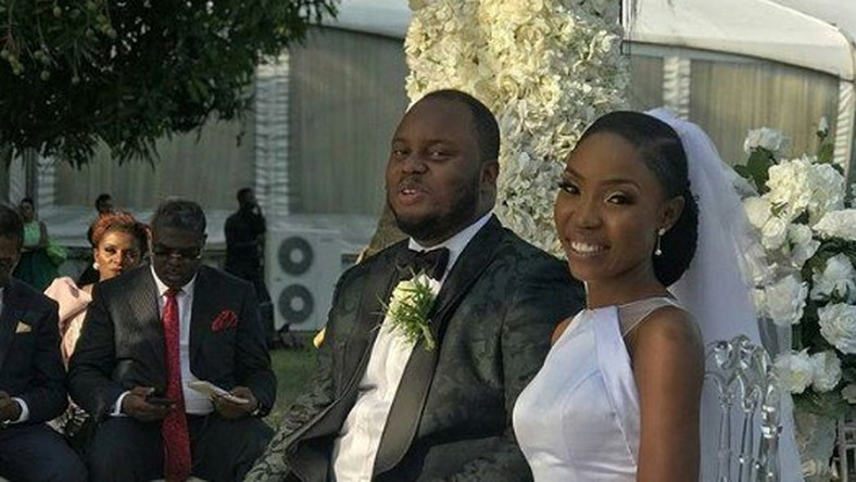 Kemi Lala, Chef Fregz look simple, elegant in wedding pictures