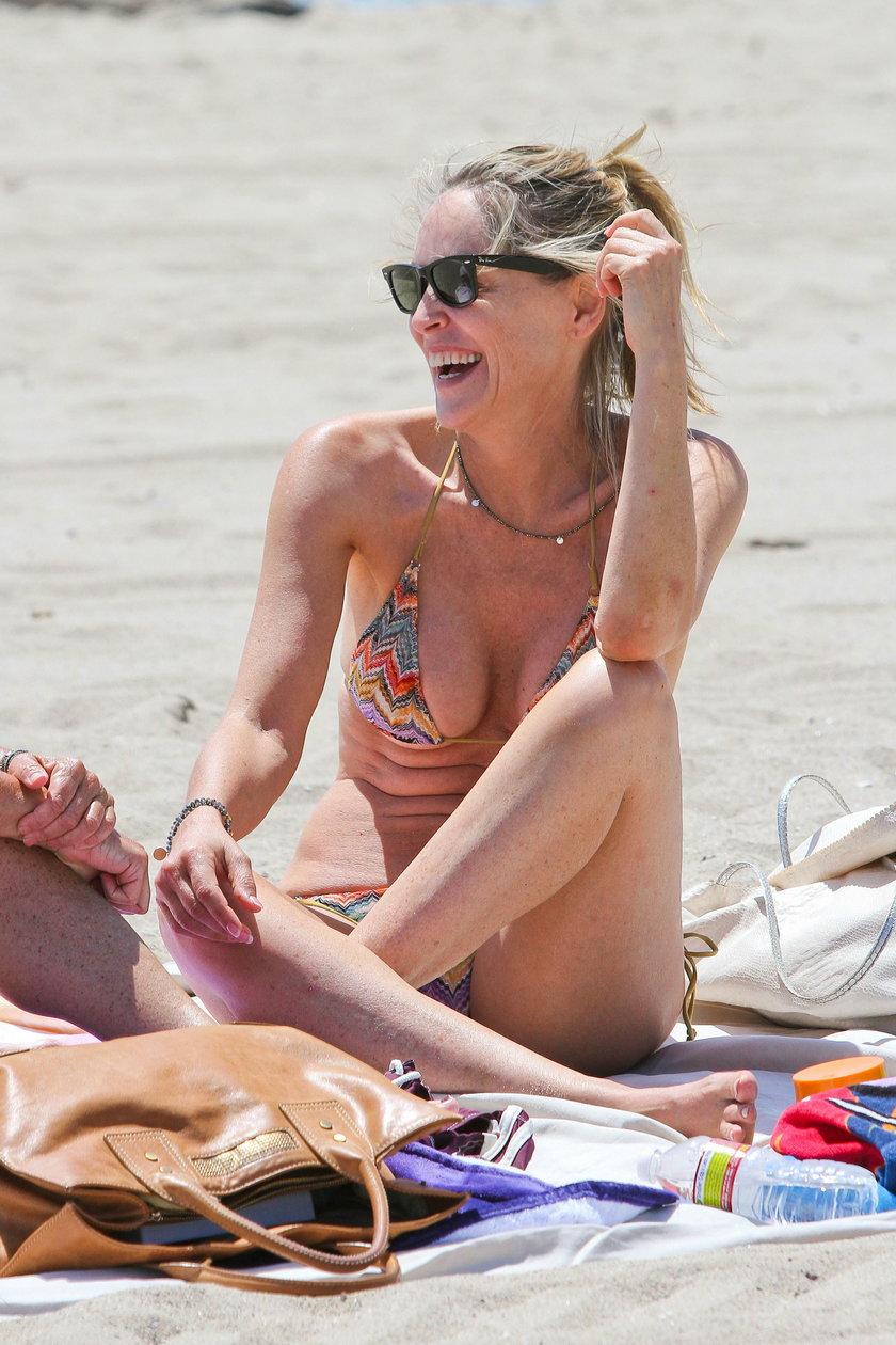Sharon Stone w bikini