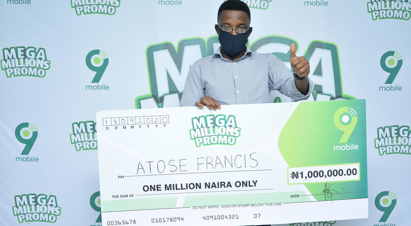 N1million winner lauds 9mobile's consistent quality network