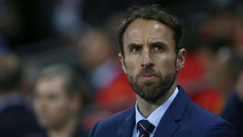 England's Interim manager Gareth Southgate watches his players from the touchline during the friendly international football match between England and Spain at Wembley Stadium, north-west London, on November 15, 2016