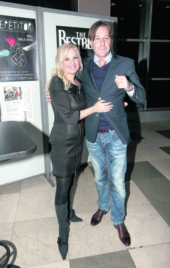 Lea Kiš sa mužem