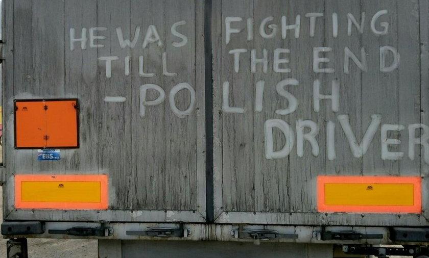 Hołd dla polskiego kierowcy