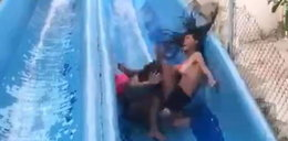 Groźny incydent w parku wodnym! Wszystko się nagrało