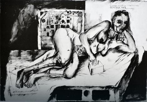 Jedan od Popovićevih crteža koji je najavio slavnu umetničku karijeru
