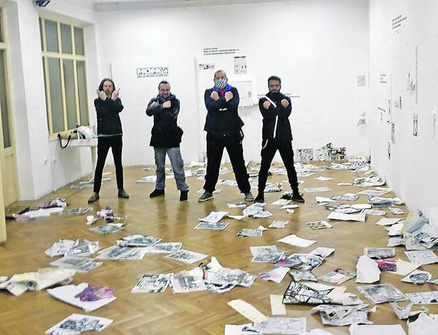Uništeni radovi na izložbi stripova u Zemunu