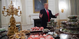 Przyjęcie u Trumpa. Prezydent podał burgery, pizze i frytki