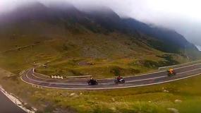 Trasa Transfogarska widziana z siodła motocykla