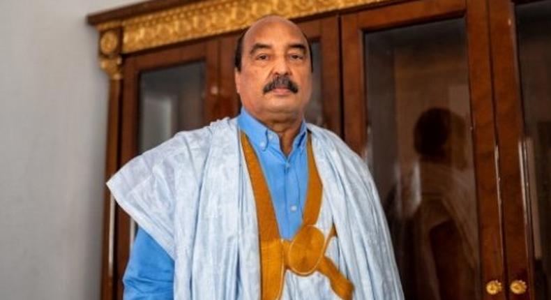 Mohamed Ould Abdelaziz, à Nouakchott, le 12 avril 2021