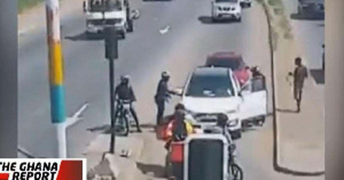 Achimota robbery: CCTV footage shows how armed robbers operated and bolted with GH¢29,000