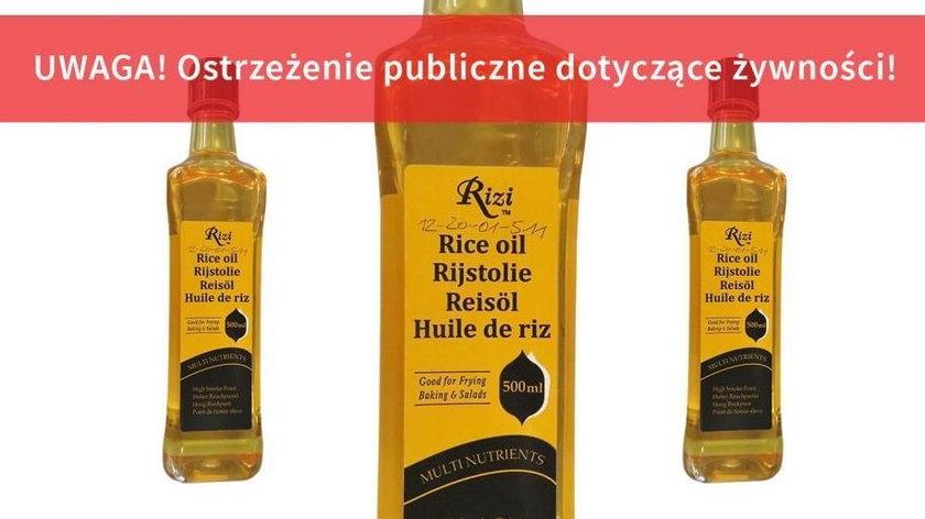 wycofany produkt - Rizi - olej z ryżu