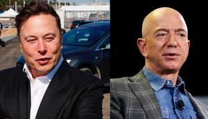 Elon Musk and Jeff Bezos.